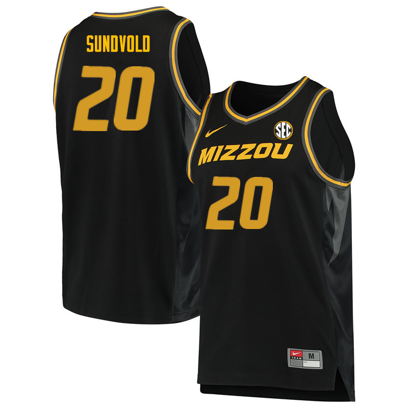 Men #20 Jon Sundvold Missouri Tigers College Basketball Jerseys Sale-Black